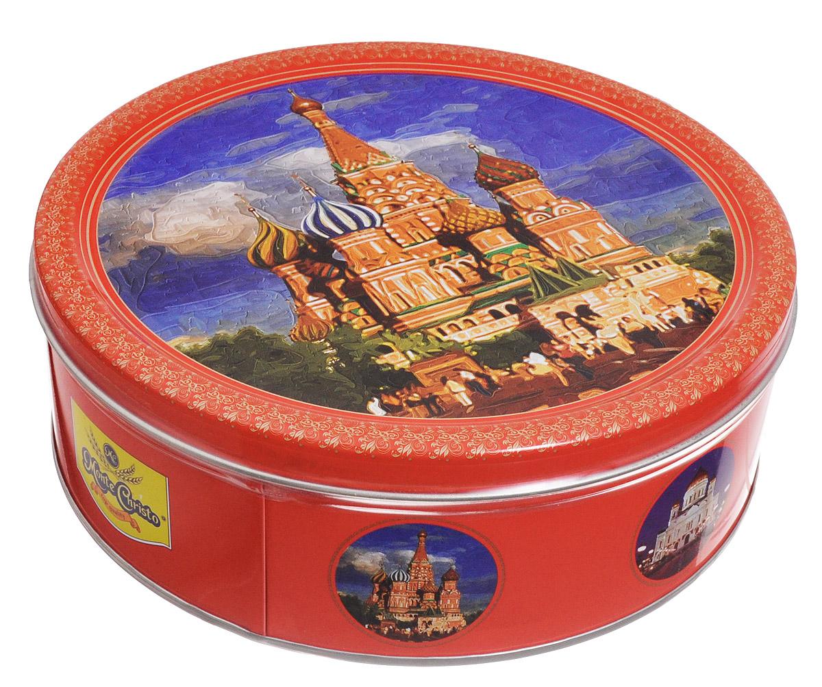 Monte Christo Красная площадь печенье со сливочным маслом, 400 гMC-4-22Печенье Monte Christo Красная площадь - это отличный сувенир -оригинальный и вкусный.На подарочной жестяной банке изображен собор Василия Блаженного, который является частью знаменитого кремлевского ансамбля.