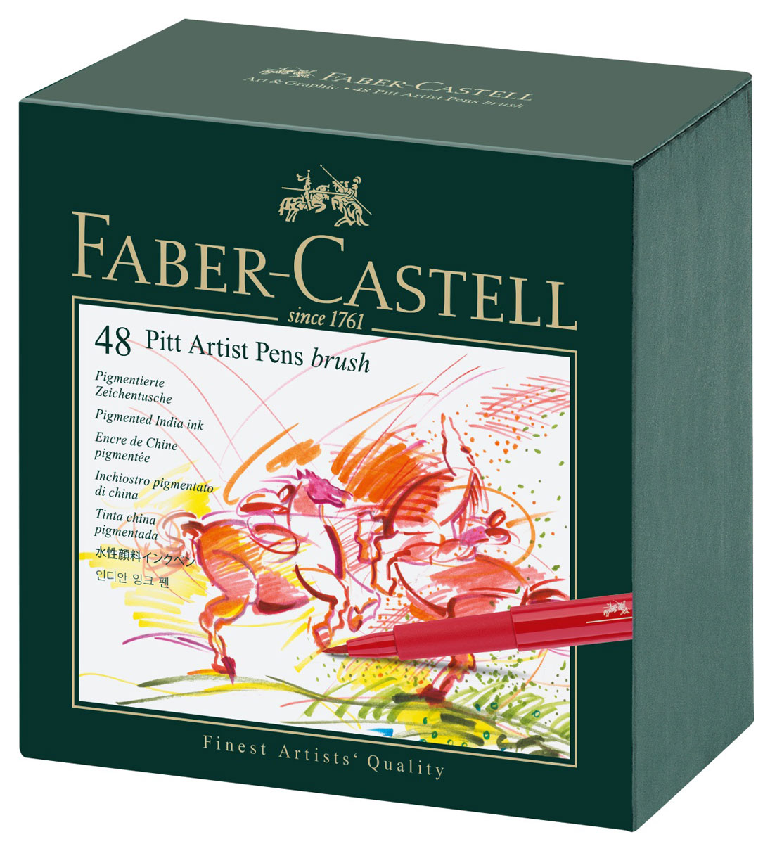 Faber-Castell Ручка капиллярная Pitt Artist Pen 48 шт faber castell капиллярные ручки pitt artist pen soft brush 8 шт