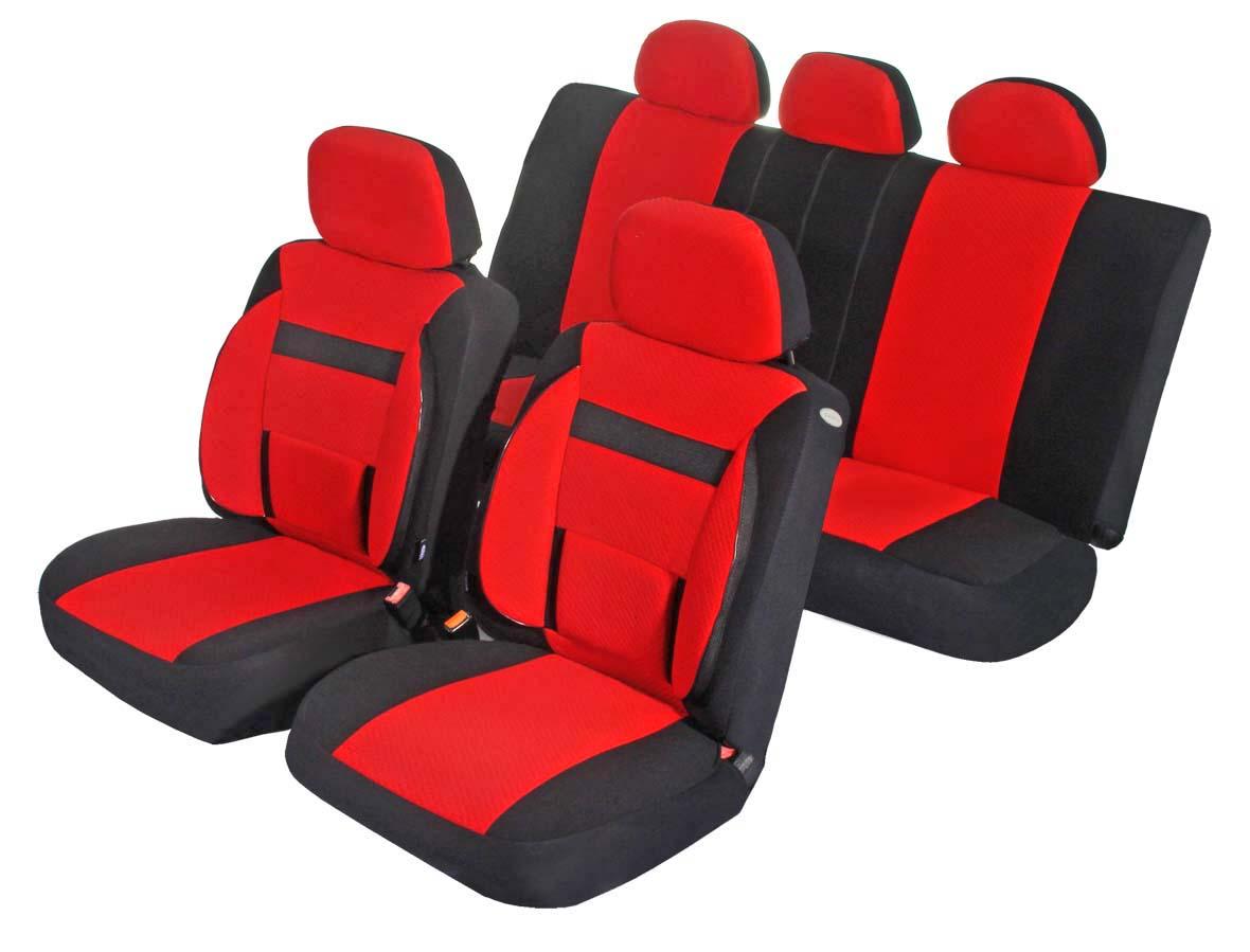 Чехлы для сидений Azard Support, универсальные, 11 предметов, цвет: красныйAV031164Универсальные чехлы из автомобильного велюра. Применимы для 95% легкового автопарка РФ.Благодаря особому крою типа В чехлы идеально облегают сидения автомобиля. Специальный боковой шов позволяет применять авто чехлы в автомобилях с боковыми подушками безопасности (AIR BAG).Ортопедическую поддержку спины и ног по достоинству оценят водители, проводящие за рулем длительное время.Раздельная схема надевания обеспечивает легкую установку авто чехлов. Дополнительное удобство создает наличие предустановленных крючков, утягивающего шнура, фиксирующей липучки на передних спинках, а также предустановленной прорези для установки подголовника.Материал триплирован огнеупорным поролоном 3 мм, за счет чего чехол приобретает дополнительную мягкость и устойчивость к возгоранию.Авточехлы Azard Support износоустойчивы и легко стирается в стиральной машине.