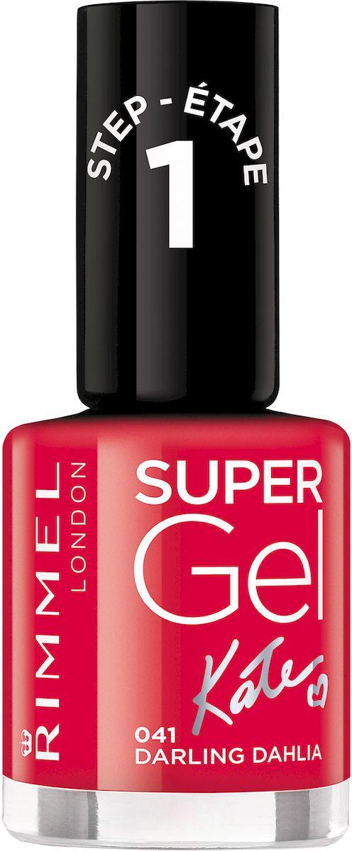Rimmel Super Gel Kate nail polish Гель-лак для ногтей, тон 041 ярко-красный, 12 мл34776273041Коллекция эксклюзивных оттенков от Кейт Мосс для еще более модного гелевого маникюра! STEP 5Как ухаживать за ногтями: советы эксперта. Статья OZON Гид