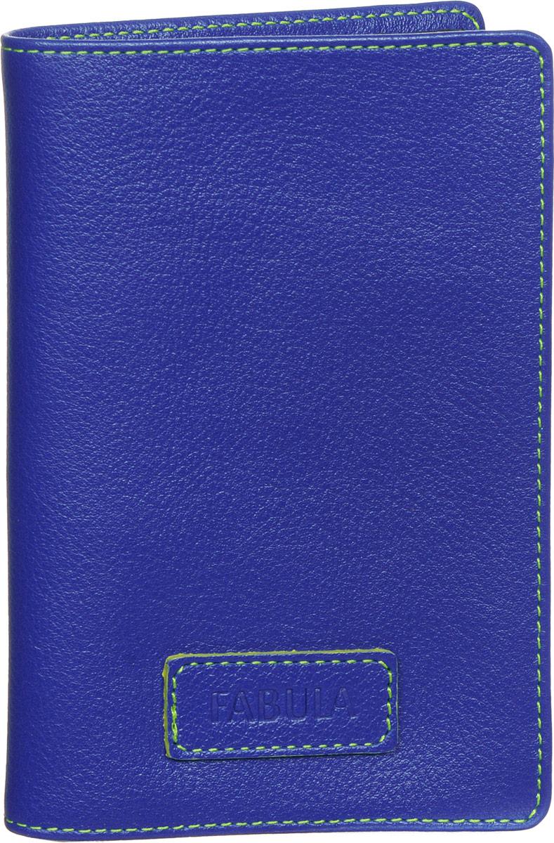 Обложка для паспорта женская Fabula Ultra, цвет: синий. O.82.FPНатуральная кожаСтильная обложка для паспорта Fabula Ultra выполнена из натуральной кожи с зернистой текстурой, оформлена нашивкой с тиснением в виде символики бренда и контрастной отстрочкой. Подкладка изготовлена из полиэстера.Изделие раскладывается пополам, внутри расположены два пластиковых кармашка.Такая обложка для паспорта станет прекрасным и стильным подарком человеку, любящему оригинальные и практичные вещи.