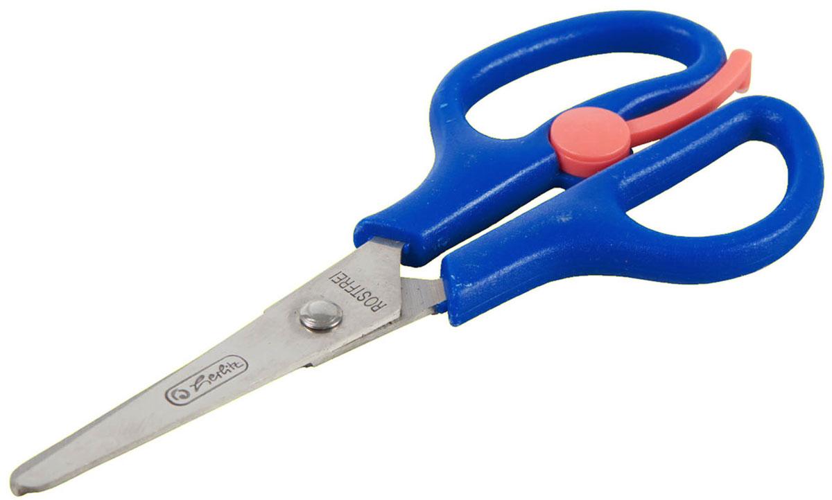 Herlitz Ножницы детские 13,5 см цвет синий8740052Детские ножницы для детского творчества от Herlitzадаптированы для детской руки, обособлены безопасными закругленными концами лезвий.Лезвия из шлифованной нержавеющей стали обеспечивают высокое качество резки. Пластиковые ручки никак не смогут навредить вашему ребенку при их использовании.Рекомендуемый возраст от 3-х лет..