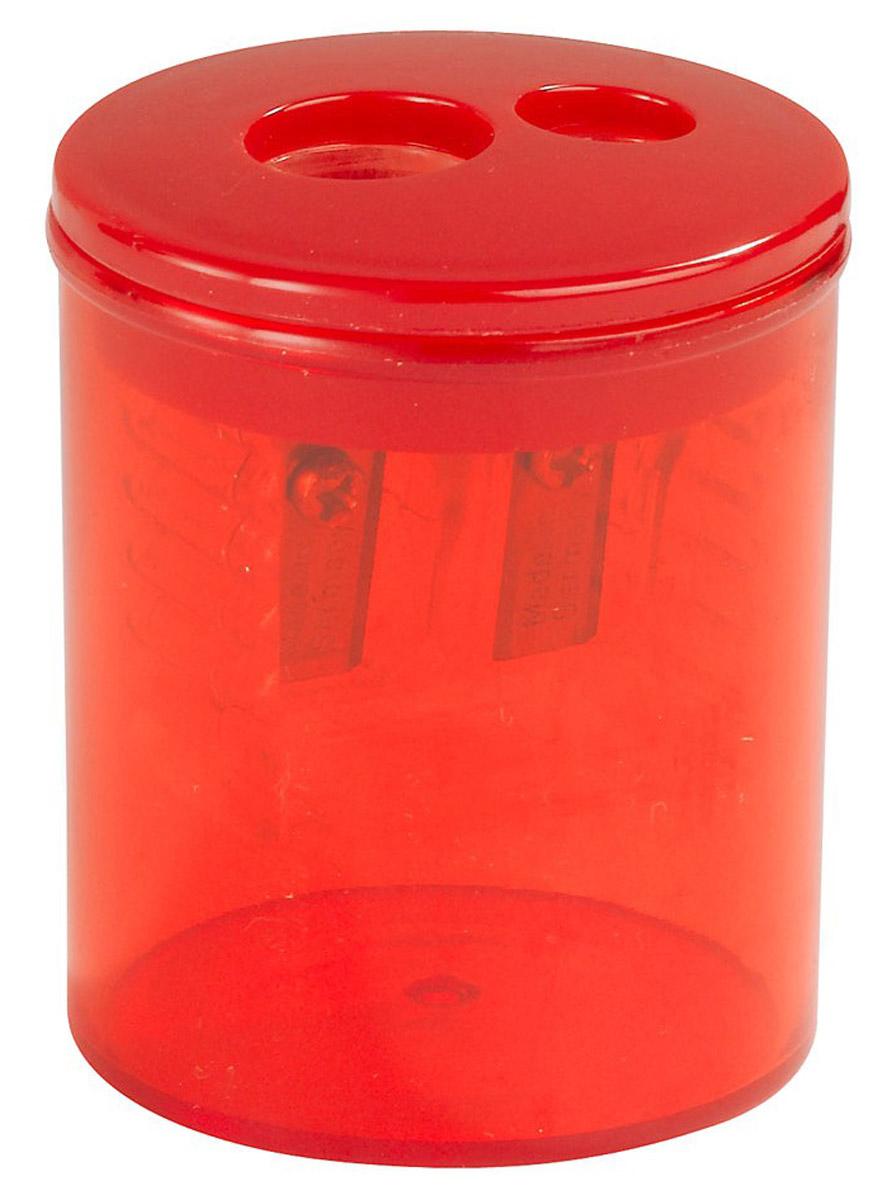 Herlitz Точилка Бочонок двойная с контейнером цвет красный