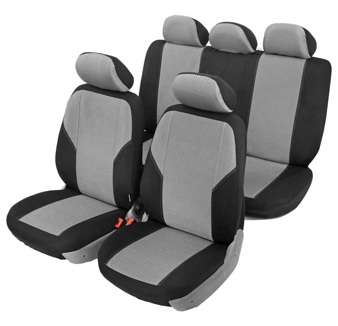 Чехол на автомобильное кресло универсальный Senator Maine, размер M, 11 предметов, карман, 6 молний, цвет: серыйSJ111162Универсальные классические чехлы из сверхпрочного жаккарда. Применимы для 95% легкового автопарка РФ.Благодаря особому крою типа «В» чехлы идеально облегают сидения автомобиля. Специальный боковой шов позволяет применять авто чехлы в автомобилях с боковыми подушками безопасности (AIR BAG).Раздельная схема надевания обеспечивает легкую установку авто чехлов. Дополнительное удобство создает наличие предустановленных крючков, утягивающего шнура, фиксирующей липучки на передних спинках, а также предустановленной прорези для установки подголовника.Материал триплирован огнеупорным поролоном 5 мм, за счет чего чехол приобретает дополнительную мягкость и устойчивость к возгоранию.Авточехлы Senator Жаккард Maine износоустойчивы и легко стираются в стиральной машине.