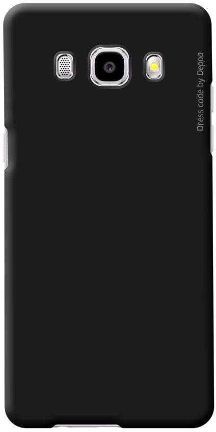 Deppa Air Case чехол для Samsung Galaxy J5 (2016), Black83250Чехол Deppa Air Case для Samsung Galaxy J5 (2016) случай редкого сочетания яркости и чувства меры. Это стильная и элегантная деталь вашего образа, которая всегда обращает на себя внимание среди множества вещей. Благодаря покрытию soft touch чехол невероятно приятен на ощупь, поэтому смартфон не хочется выпускать из рук. Ультратонкий чехол (1 мм) повторяет контуры самого девайса, при этом готов принимать на себя удары - последствия непрерывного ритма городской жизни.Чехлы Deppa Air Case изготавливаются из высококачественного поликарбоната (PC) производства Вауеr, устойчивого к сколам, ударам и царапинам. Прочная поверхность чехла с покрытием soft touch обладает противоскользящим эффектом. Все функциональные отверстия чехла идеально подогнаны по размерам и местоположению, обеспечивая полный доступ к внешним портам, слотам и разъемам гаджета.