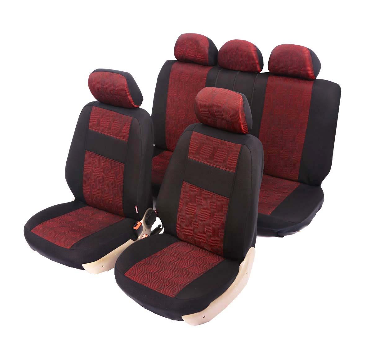 """Чехлы автомобильные универсальные Senator """"Arizona"""", цвет: красный, черный, 11 предметов. Размер М"""