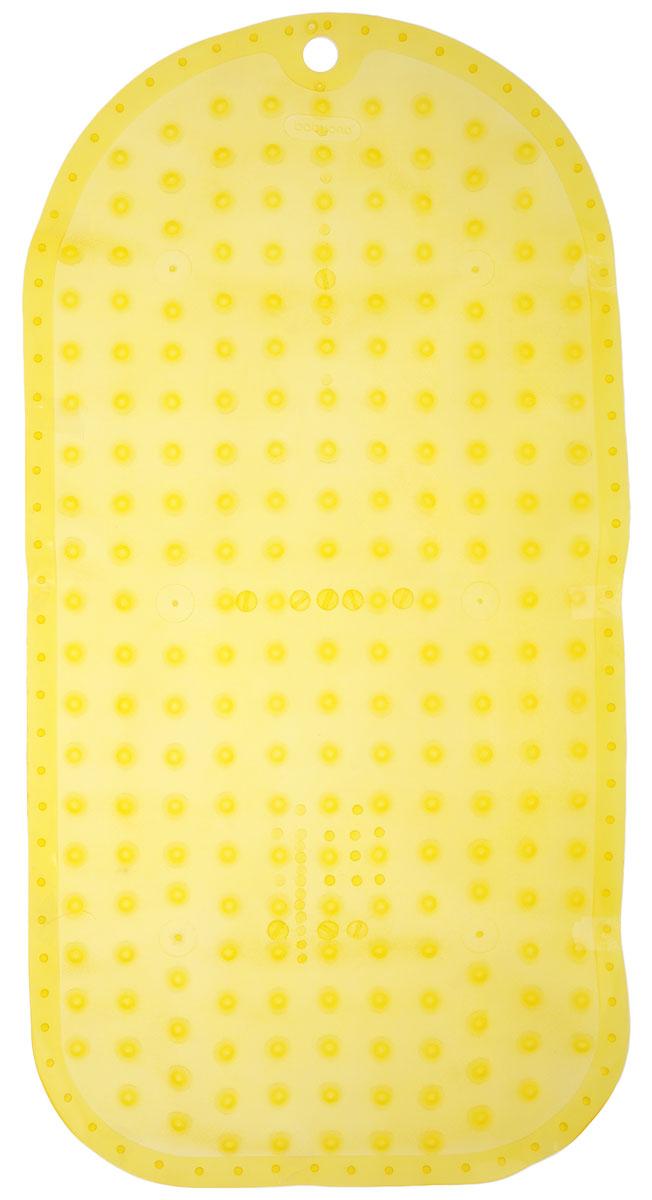 BabyOno Коврик противоскользящий для ванной цвет желтый 70 х 35 см1346_желтыйКоврик противоскользящий для ванной BabyOno предназначен для детских ванночек, ванн и душевых кабин. Имеет присоски, исключающие перемещение коврика по поверхности.Для правильного закрепления коврика следует сначала наполнить ванну водой, а затем вложить коврик и равномерно прижать с каждой стороны.Во время купания ребенок должен находиться под постоянным присмотром взрослого. Перед первым и после каждого купания коврик следует промыть в теплой воде с добавлением детского мыла, ополоснуть и высушить. Изделие не является игрушкой. Хранить в месте, недоступном для детей. Не содержит фталатов.Товар сертифицирован.