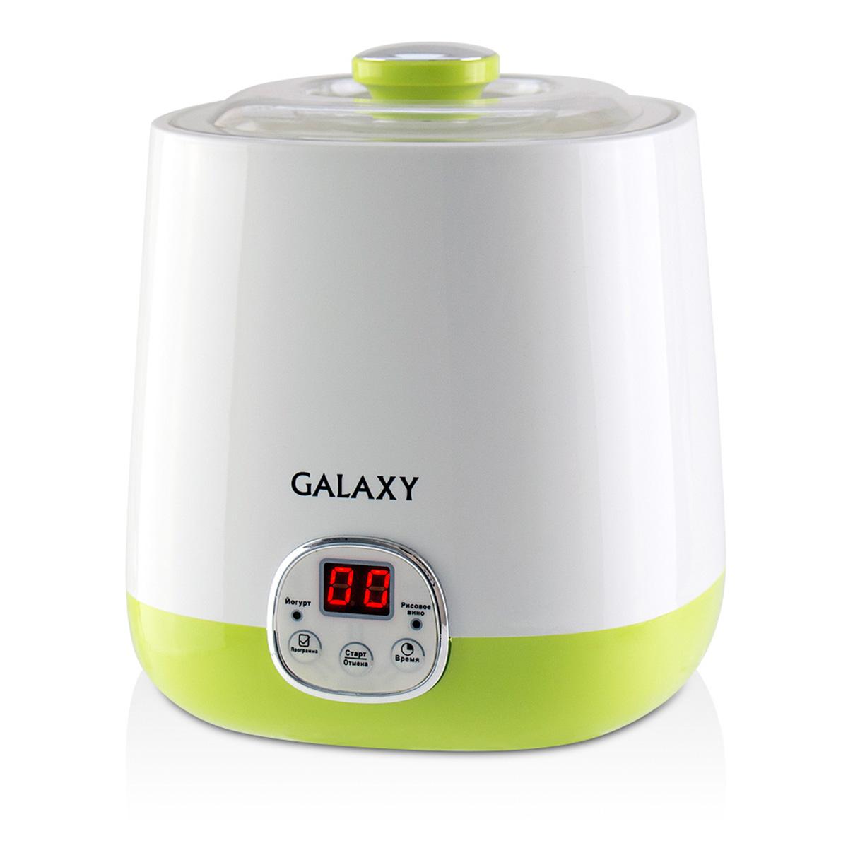 Galaxy GL 2692 йогуртница4630003365330Йогуртница Galaxy GL 2692 приговит для вас полезное лакомство, содержащее живую йогуртовую культуру без консервантов,ароматизаторов и красителей. Приготовление домашнего йогурта позволяет дать волю фантазии в выборе наполнителей и получить натуральный и полезный продукт для Вашей семьи!