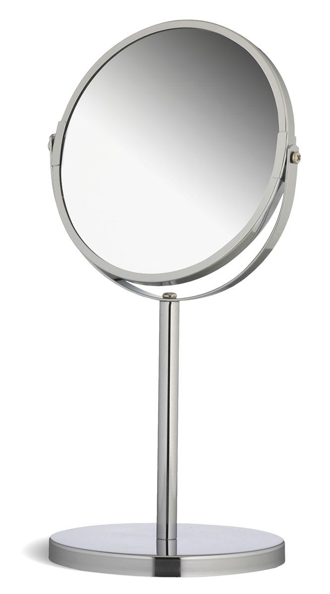 Зеркало двухстороннее Tatkraft Venus, настольное, диаметр 17 см11120Настольное двухстороннее зеркало Tatkraft Venus в оправе из хромированной стали имеет влагостойкое покрытие и регулятор наклона. Оно будет удобным в ванной комнате или на туалетном столике. У зеркала две поверхности, одна из которых дает обычное отражение, другая - с трехкратным увеличением. У зеркала отсутствует геометрическое искажение.Высота зеркала: 34 см.Диаметр зеркала: 17 см. Диаметр поставки: 15 см. Длина ножки: 15 см.