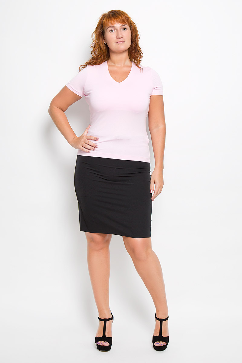 Футболка женская Ruxara, цвет: нежно-розовый. 865000_63. Размер 52 футболка женская ruxara цвет молочный 1202700 6 размер 52