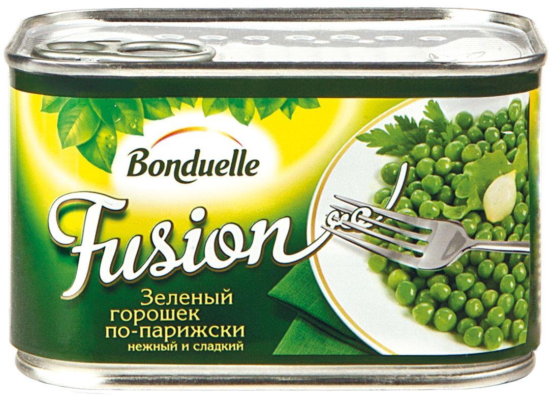 Bonduelle Фьюжн горошек зеленый по-парижски, 400 г