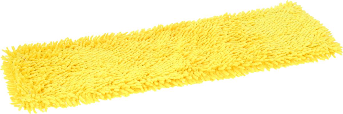 Насадка для швабры Мультидом Чистюля, цвет: желтый, 42 х 12 х 1 смLT58-81_жёлтыйСменная насадка для швабры Мультидом Чистюля выполнена из микрофибры (80% полиэстер, 20% полиамид). Насадки из микроволокна обладают несколькими важными достоинствами: микроволокно в сухом виде в процессе протирания поверхности электризуется и притягивает к себе мельчайшие частицы пыли, а не разгоняет их по комнате. При влажной уборке, благодаря структуре микрофибрового волокна поглощать влагу в семь раз больше самой ткани, насадка хорошо впитывает и удерживает влагу, забирает в структуру ткани любые загрязнения, не оставляет разводов. Использование насадки для швабры Мультидом Чистюля позволяет очистить любые поверхности от пыли и грязи без использования химических средств.
