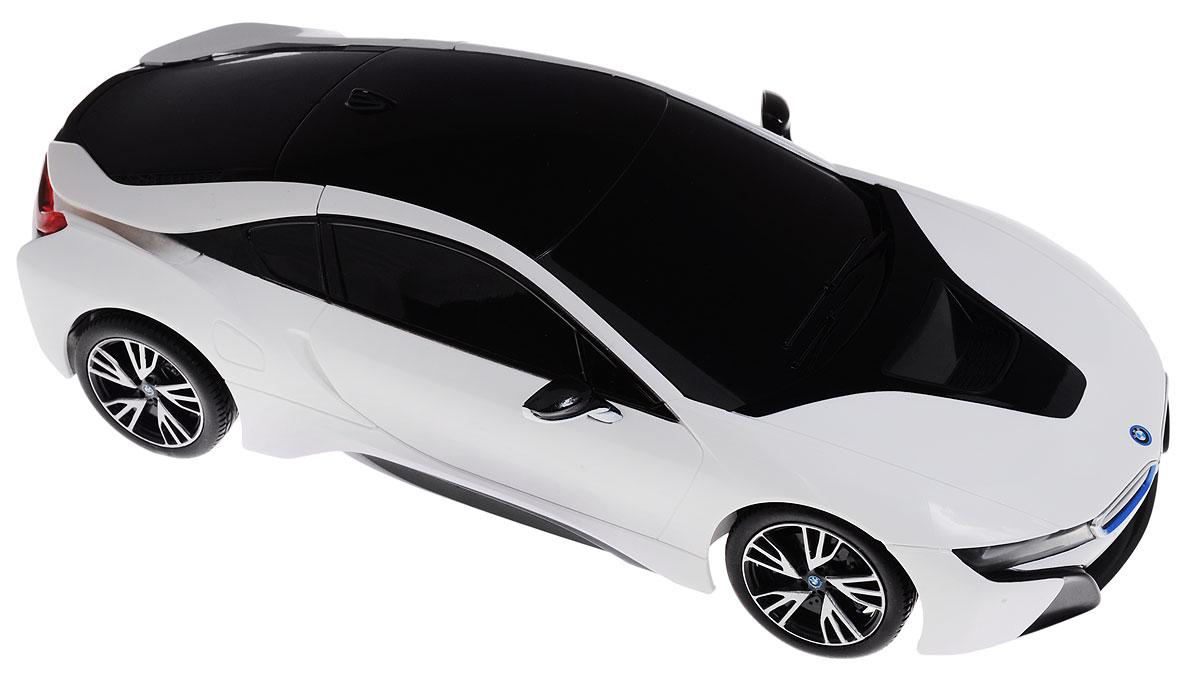 Rastar Радиоуправляемая модель BMW i8 цвет белый черный масштаб 1:18 - Радиоуправляемые игрушки