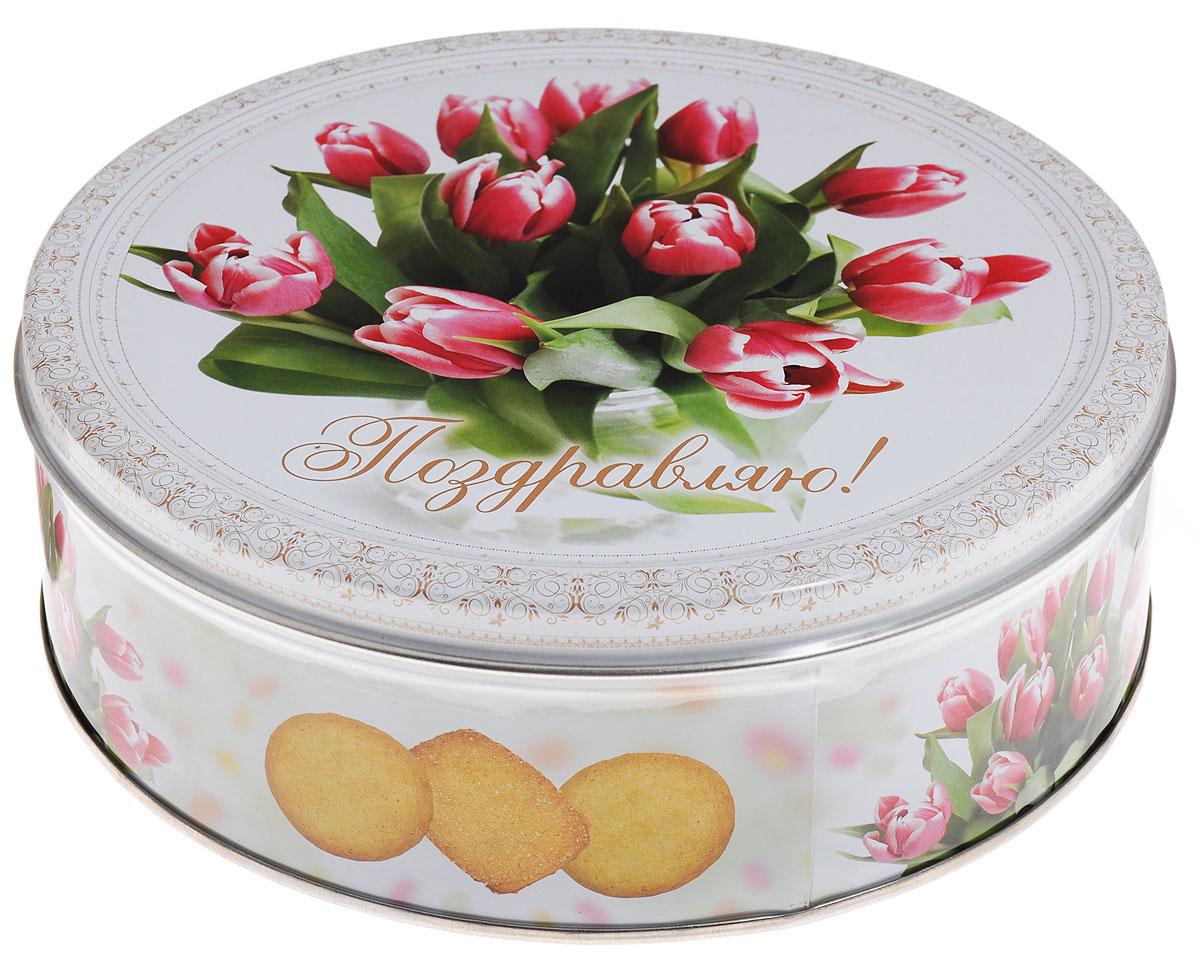 Monte Christo Тюльпаны печенье со сливочным маслом, 400 г monte christo русские узоры хохлома печенье сдобное со сливочным маслом оранжевый 400 г