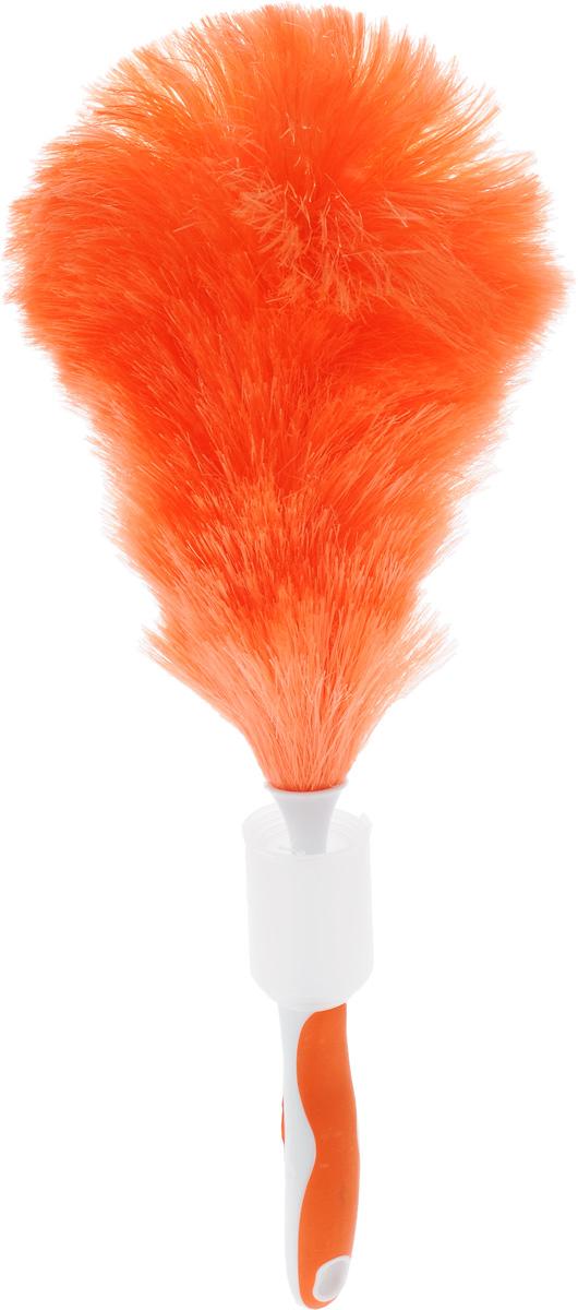 Щетка для уборки пыли Мультидом, с чехлом, цвет: оранжевый, белый, длина 46 смYM58-144_оранжевыйЩетка для уборки пыли Мультидом позволит бережно собрать пыль даже с деликатных поверхностей, а длина ручки щетки поможет без труда добраться до каждого потаенного уголка, где любит скапливаться пыль. Отверстие в ручке позволит подвесить щетку в нужном месте. Для удобства хранения щетка снабжена телескопическим пластиковым чехлом, который легко раскладывается. После уборки промойте ворсинки под теплой проточной водой с использованием жидких моющих средств в случае необходимости, а затем просушите. И щетка снова готова к использованию! Длина щетки: 46 см.