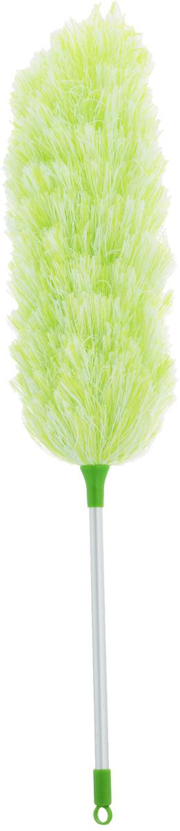 Щетка для уборки пыли Мультидом, цвет: зеленый, стальной, белый, длина 52 смYM58-142_зеленыйС помощью щетки для уборки пыли Мультидом вы легко и деликатно сможете удалить пыль с любой поверхности и превратить уборку в удовольствие. Мягкий ворс щетки эффективно собирает пыль, не повреждая покрытия и не давая ей разлетаться в воздухе. Основа щетки гибкая и ей можно придать любой изгиб, что позволяет вам удалить пыль в труднодоступных местах: на шкафах и за шкафами, внутри батарей отопления, под кроватями и за диванами. Основание щетки выполнено из металла, мягкий ворс щетки из полиэстеровых нитей, ручка из алюминия с элементами из пластика.Длина щетки: 52 см.