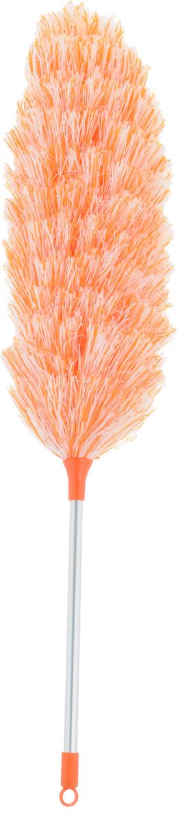Щетка для уборки пыли Мультидом, цвет: оранжевый, стальной, белый, длина 52 смYM58-142_оранжевыйС помощью щетки для уборки пыли Мультидом вы легко и деликатно сможете удалить пыль с любой поверхности и превратить уборку в удовольствие. Мягкий ворс щетки эффективно собирает пыль, не повреждая покрытия и не давая ей разлетаться в воздухе. Основа щетки гибкая и ей можно придать любой изгиб, что позволяет вам удалить пыль в труднодоступных местах: на шкафах и за шкафами, внутри батарей отопления, под кроватями и за диванами. Основание щетки выполнено из металла, мягкий ворс щетки из полиэстеровых нитей, ручка из алюминия с элементами из пластика.Длина щетки: 52 см.