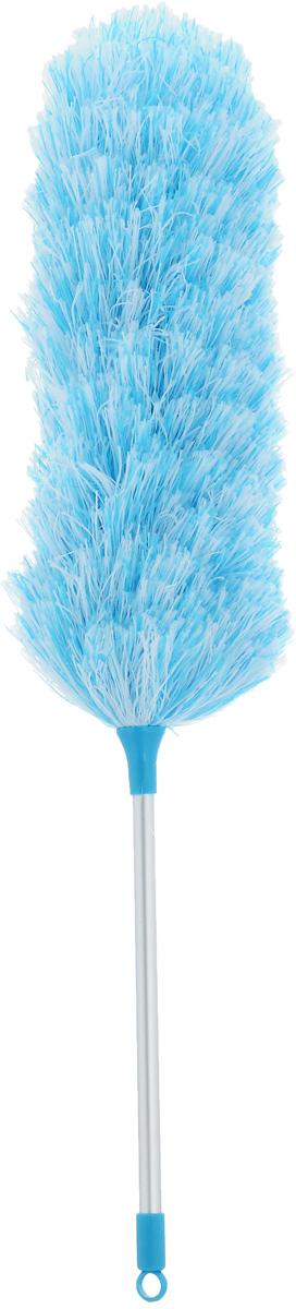 Щетка для уборки пыли Мультидом, цвет: голубой, стальной, белый, длина 52 смYM58-142_голубойС помощью щетки для уборки пыли Мультидом вы легко и деликатно сможете удалить пыль с любой поверхности и превратить уборку в удовольствие. Мягкий ворс щетки эффективно собирает пыль, не повреждая покрытия и не давая ей разлетаться в воздухе. Основа щетки гибкая и ей можно придать любой изгиб, что позволяет вам удалить пыль в труднодоступных местах: на шкафах и за шкафами, внутри батарей отопления, под кроватями и за диванами. Основание щетки выполнено из металла, мягкий ворс щетки из полиэстеровых нитей, ручка из алюминия с элементами из пластика.Длина щетки: 52 см.