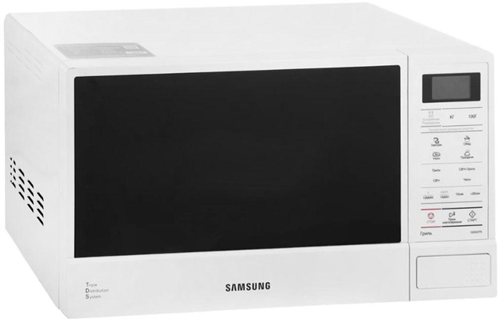 Samsung GE83DTR-1W, White СВЧ-печьGE83DTR-1WМинимальное время разморозки.Время разморозки сократилось до минимума. После размораживания очень часто часть продукта остается твердой как лед, в то время как другие части - мягкими. Технология быстрого размораживания, разработанная в компании Samsung, позволяет размораживать продукты быстро и равномерно, не ухудшая питательных свойств продуктов.Три волны лучше одной.Инженеры компании Samsung постоянно совершенствуют и улучшают рабочие характеристики своей продукции, используя для этого самые новейшие технологии. Наша уникальная система тройного распределения микроволн (Triple Distribution System) обеспечивает равномерный прогрев продуктов, начиная от пиццы и заканчивая подогревом стакана молока. Пользуясь нашими микроволновыми печами, вы оцените удобство и комфорт процесса приготовления самых разнообразных блюд.Продукты всегда имеют свежий и аппетитный вид.Применение БИОкерамической эмали - следующий шаг облегчения процесса чистки стенок рабочей камеры печи. БИОкерамическое покрытие увеличивает срок службы печи. Неважно, как ваши домашние используют печь, БИОкерамическое покрытие невозможно поцарапать, как это обычно бывает в случае, если стенки камеры изготовлены из нержавеющей стали или пластика. Кроме того, БИО керамическое покрытие легко поддается чистке. Достаточно протереть его влажной салфеткой. Наконец, на стенки рабочей камеры нанесено дополнительное покрытие, обладающее антибактериальными и деодорирующими свойствами. Теперь вы избавитесь от частой и утомительной чистки стенок рабочей камеры.