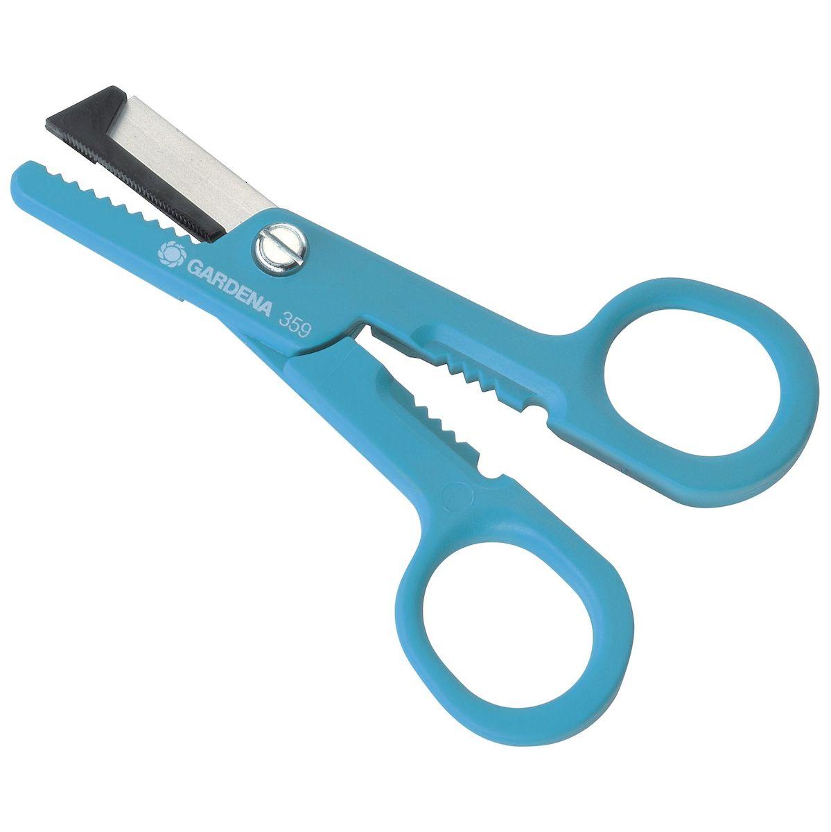 Ножницы для роз Gardena, длина 15,5 см00359-20.000.00Ножницы для роз Gardena имеют четыре функции: срезание, удерживание, удаление шипов и раздавливание концов стеблей. Лезвия ножниц изготовлены из нержавеющей стали, рукоятка - из ПВХ.Ножницы для роз Gardena станут незаменимым инструментом при садовых работах