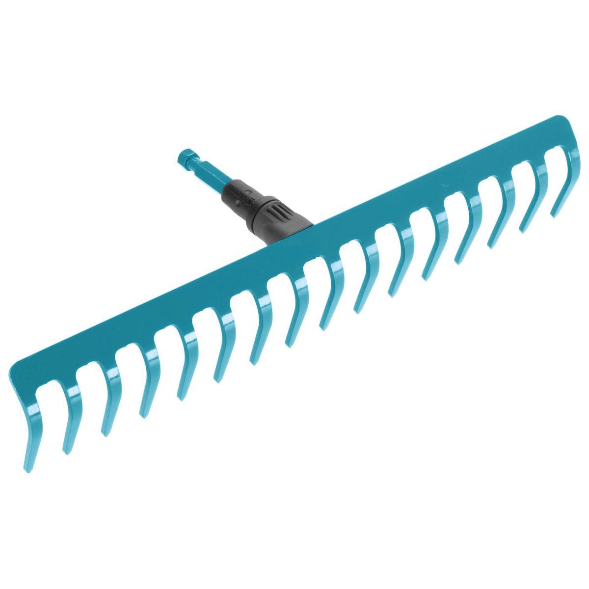 Грабли Gardena, без ручки, 41 см03179-20.000.00Грабли Gardena выполнены из высококачественной стали с покрытием из дюропласта, которое обеспечивает оптимальную защиту инструмента от коррозии. Грабли представляют собой практичный многофункциональный инструмент, который идеально подходит для очистки, обработки и выравнивания почвы. Грабли могут использоваться с любой ручкой, однако рекомендуется использовать ручку длиной 150 см, в зависимости от роста пользователя.Рабочая ширина: 41 см.