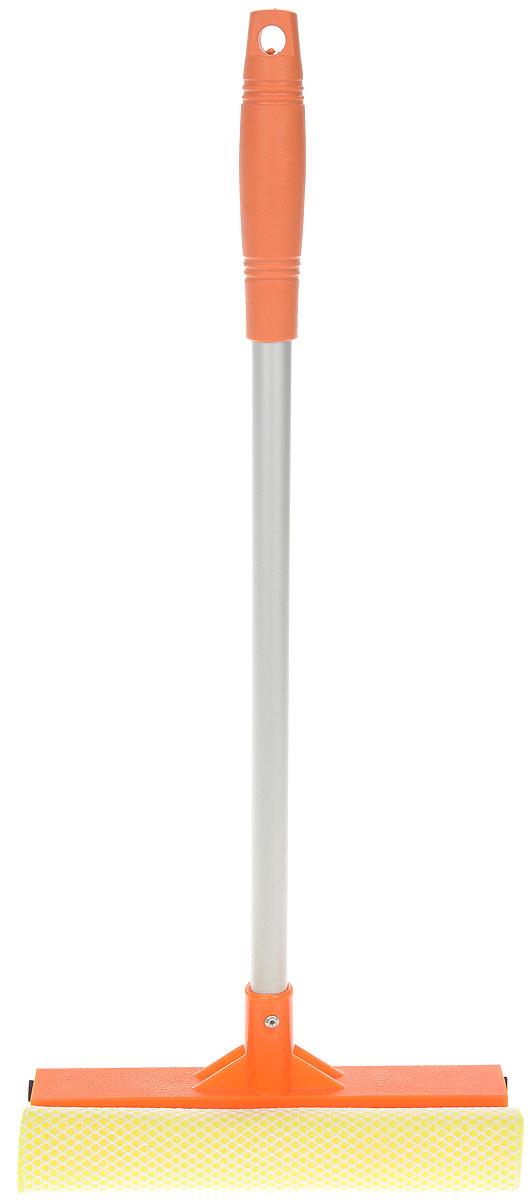 Щетка для окон Мультидом, цвет: оранжевый, длина ручки 43 смYM58-129_оранжевыйЩетка Мультидом предназначена для мытья окон, зеркал, керамической плитки и других поверхностей. Щетка снабжена губкой и сгоном. Жесткое крепление щетки к ручке обеспечивает изделию долгий срок эксплуатации. Ручка выполнена из прочного алюминия, губка из поролона.Длина ручки: 43 см.Размер рабочей части: 21 х 7,5 см.