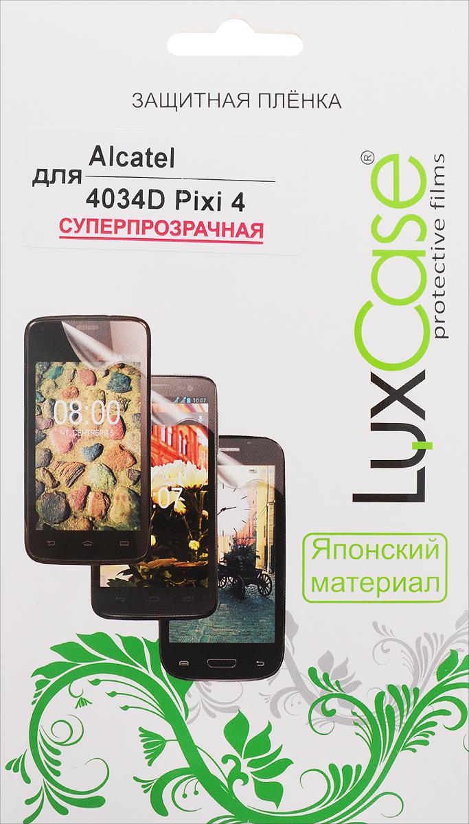 LuxCase защитная пленка для Alcatel OneTouch Pixi 4 (4034D), суперпрозрачная аксессуар защитная пленка alcatel onetouch 6070k idol 4s red line