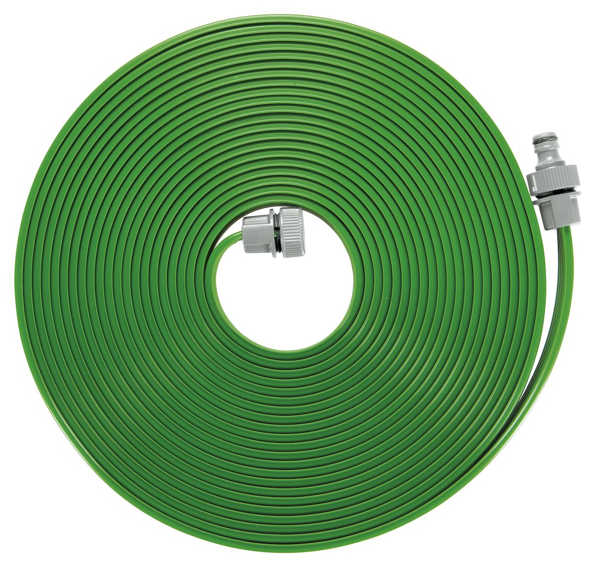 Шланг-дождеватель Gardena, цвет: зеленый, 15 м01998-20.000.00Шланг-дождеватель Gardena оптимально подходит для бережного орошения грядок, бордюров и узких площадок. Полив мелкодисперсным орошением позволяет бережно поливать капризные растения, не повреждая их.В комплект поставки шланга входят необходимые соединительные элементы, поэтому всё, что вам нужно - это подключить шланг к источнику воды. Шланг-дождеватель предусматривает возможность наращивания путем простого подсоединения до 22,5 м. Шланг может быть укорочен по желанию пользователя. Для этого нужно просто обрезать шланг, отмерив нужную длину, и установить соединительные элементы. Шланг-дождеватель Gardena предназначен для легкого полива небольших участков. Площадь полива - 15 м2. Длина шланга - 15 м.