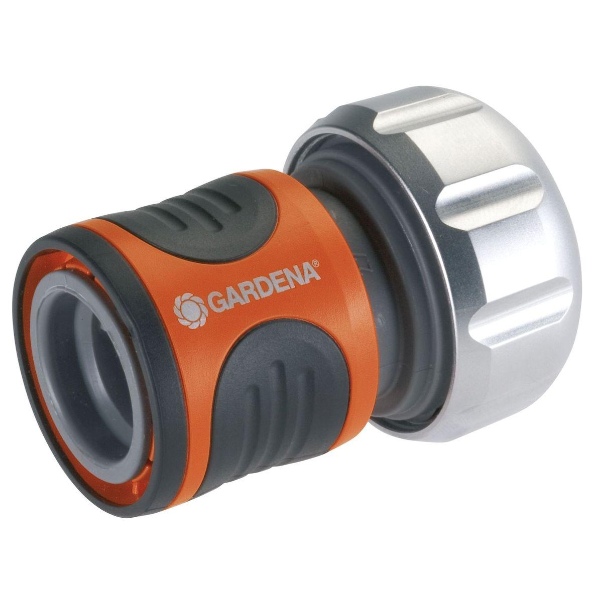 Коннектор с автостопом Gardena Premium, 19 мм (3/4) коннектор ремонтный для шланга truper пластиковый мама 5 8 3 4