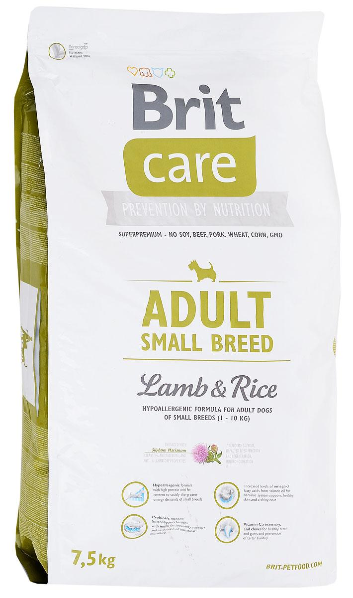 Корм сухой Brit Care Adult Small Breed для собак мелких пород, с ягненком и рисом, 7,5 кг100201Сухой корм Brit Care Adult Small Breed содержит все питательные вещества, витамины иминералы,необходимые собакам. Благодаря специальным добавкам, корм Brit Care Adult Small Breed:Улучшает состояние шерсти и кожи. Оптимальное соотношение омега-3 и омега-6жирных кислот с органическим цинком и медью обеспечивает здоровоесостояние кожи и улучшает качество шерсти; Высокое содержание протеинов. Оптимальное соотношение аминокислот(идеальный протеин) обеспечивает высокую усвояемость белков для мышечнойткани; Поддерживает иммунитет и охрану здоровья. MOS (маннано-олигосахариды)поддерживают хорошее состояние пищеварительного тракта и уменьшаютколичество патогенной микрофлоры в кишечнике; Содержит фактор, замедляющий старение - защиту от свободных радикалов.Высокое содержание витамина Е и органического селена обеспечиваютзащитныйкомплекс антиокислителей; Поддерживает кишечную микрофлору. FOS (фрукто-олигосахариды) оказываютблагоприятное влияние на кишечную микрофлору и поддерживают ее вздоровомсостоянии.Состав: мука из мяса ягненка (40%), рис (36%), куриный жир (консервировантокоферолами), сушенное яблоко, рыбий жир лососевых рыб (2%), натуральныеароматизаторы, пивные дрожжи, гидролизованные панцири ракообразных,хрящевой экстракт, маннан-олигосахариды, экстракт трав и фруктов, фрукто-олигосахариды, юкка Шидигера, инулин, молочный чертополох.Пищевая ценность: протеины 28%,жиры - 17%, вода 10%, сырая зола 7,2 %,клетчатка -2,5%, кальций - 1,6%, фосфор - 1,2 %, витамин А - 20000 МЕ, витамин D3 - 1500 МЕ,витамин Е - 500 мг.Товар сертифицирован.