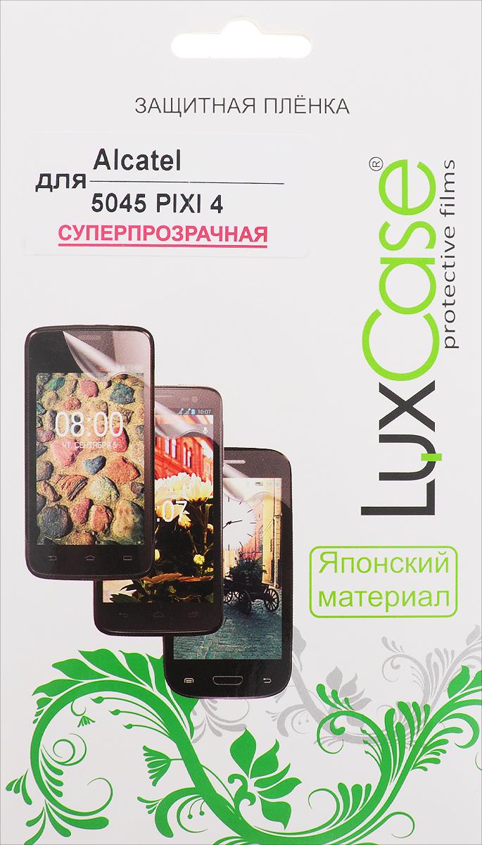 LuxCase защитная пленка для Alcatel 5045 Pixi 4, суперпрозрачная51378Защитная пленка LuxCase для Alcatel 5045 Pixi 4сохраняет экран смартфона гладким и предотвращает появление на нем царапин и потертостей. Структура пленки позволяет ей плотно удерживаться без помощи клеевых составов и выравнивать поверхность при небольших механических воздействиях. Пленка практически незаметна на экране смартфона и сохраняет все характеристики цветопередачи и чувствительности сенсора.