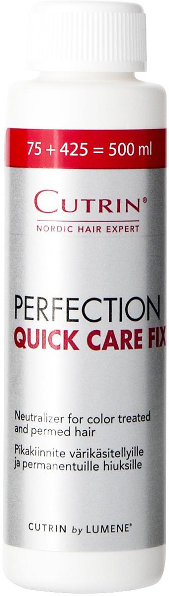 Cutrin Быстродействующий концентрированный фиксатор для волос Perfection Quick Care Fix, 75 мл10093Perfection Quick Care Fix, быстродействующий ухаживающий концентрированный фиксатор для волос, ранее подвергающихся процедурам окрашивания или химической завивки