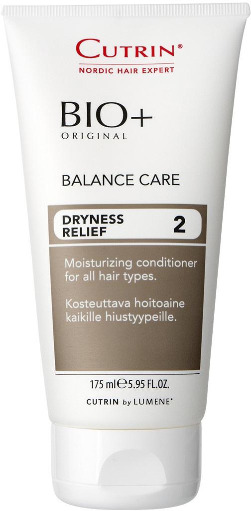 Cutrin Увлажняющий бальзам-кондиционер Balance Care, 175 мл4260254460128Увлажняющий бальзам для всех типов волос идеально подходит для сухой и чувствительной кожи головы. Поддержвает баланс влажности кожи головы. Укрепляет и увлажняет волосы, дает им жизненную силу. Содержит BIO+ Active ComplexTM. Делает волосы более послушными, значительно облегчает расчесывание волос. Оливковое масло ухаживает за волосами и кожей головы. Подходит для использования со всеми шампунями BIO+. Сохраняет цвет окрашенных волос.