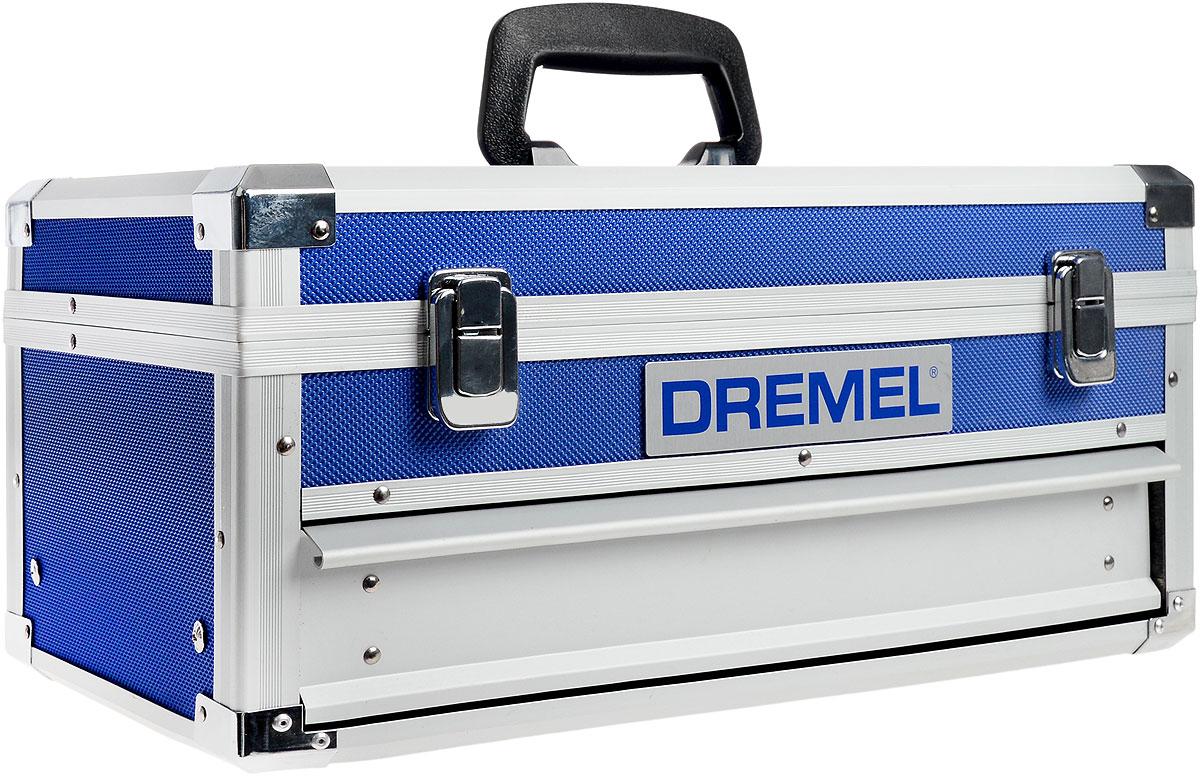 Инструмент аккумуляторный многофункциональный Dremel 8200F0138200KRВыполняйте все работы по дому с помощью всего лишь одного многофункционального инструмента Dremel 8200. Изделие работает от литий-ионного аккумулятора 10,8 В и не уступает по мощности сетевым многофункциональным инструментам. Время зарядки не превышает 1 часа, что позволяет быстро завершить работу. Ускорьте установку сменных насадок с помощью гаечного ключа, встроенного в наконечник EZ Twist. Переходите от резки и шлифке к абразивной обработке и полированию в кратчайшие сроки. Тормоз двигателя мгновенно останавливает вращение насадки после выключения инструмента, и вы можете сразу отложить его в сторону, чтобы перейти к следующему этапу работы. Особенности инструмента:3-светодиодный индикатор заряда для контроля заряда аккумулятора.Инновационный наконечник EZ Twist: для смены насадок не требуется ключ.Выключатель отделен от кнопки блокировки шпинделя, что предотвращает случайную активацию стопора.Ползунковый переключатель скорости для полного контроля регулировки до 30000 об/мин.Ручка с мягкой накладкой гарантирует комфортную работу.Компактный и мощный литий-ионный аккумулятор 10,8В со временем зарядки 1 час.Мощный электродвигатель 36 мм для всех сложных работ по резке и не только.Тормоз двигателя мгновенно останавливает вращение насадки.Комплектация: Инструмент Dremel.65 высококачественных насадок Dremel.2 аккумуляторных блока 10,8В (875).Рукоятка для точных работ (577).Линейный фрезерный циркуль (678).Универсальная направляющая для резки ().Шлифовальная платформа (576).Приспособление Comfort Guard (550).Кейс для переноски.Инструкция по эксплуатации.