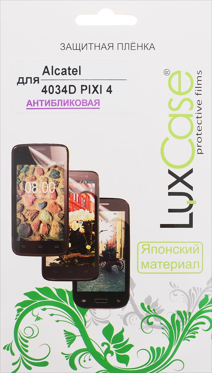LuxCase защитная пленка для Alcatel OneTouch Pixi 4 (4034D), антибликовая сотовый телефон alcatel onetouch 5045d pixi 4 full white