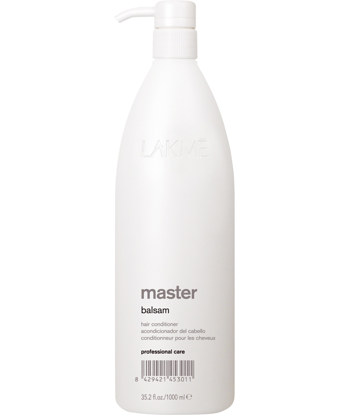Lakme Бальзам кондиционер для волос Balsam Conditioner, 1000 мл45301Бальзам кондиционер для волос Lakme Master Balsam Conditioner. Комплекс кератина и гидролизованных шелковых аминокислот, входящий в состав бальзама, восстанавливает структуру волоса. Экстракты водорослей эффективно действуют на самые сухие участки волоса. Кислотное число (ph) оказывает нейтрализующее воздействие на остатки обесцвечивающего порошка и химической завивки, выпрямления. Обеспечивает волосам мягкость, облегчает расчесывание, восстанавливает блеск и увлажняет волосы.