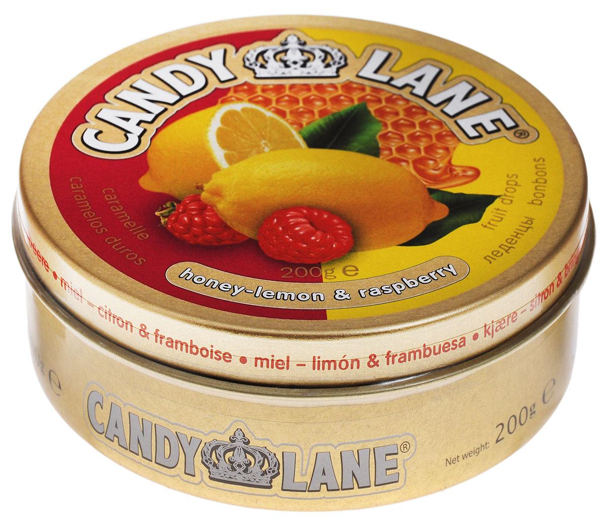 Candy Lane Мед, лимон и малина фруктовые леденцы, 200 г halls мед лимон леденцы 12 пачек по 25 г