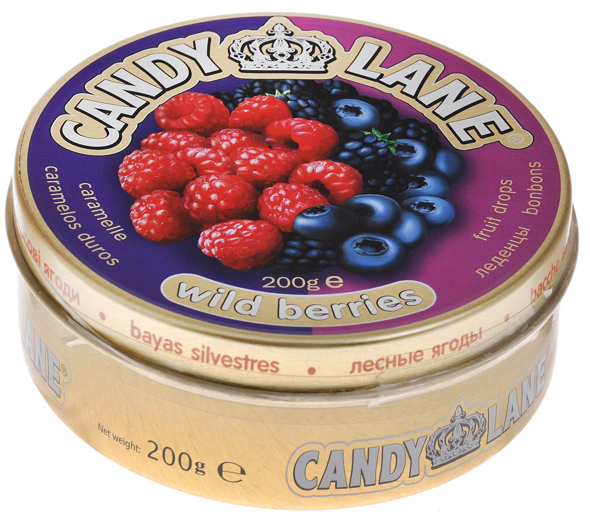 Candy Lane Лесные ягоды фруктовые леденцы, 200 г сладкая сказка печенье дед мороз и снегурочка 400 г