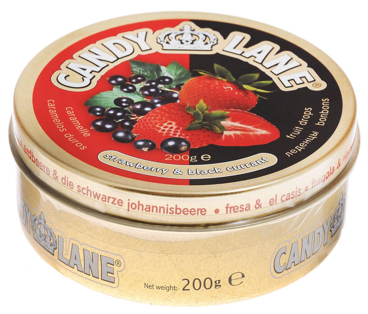 Candy Lane Клубника и черная смородина фруктовые леденцы, 200 г