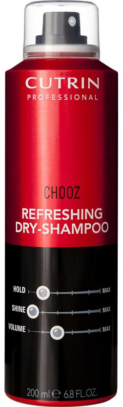 Cutrin Сухой шампунь Chooz Refreshing Dry-Shampoo, 200 мл12773Cutrin Chooz Refreshing Dry - Shampoo Сухой шампунь уникальное профессиональное ухаживающее средство для любого типа волос. Предназначено для сухого очищения без использования воды, придает невероятное чувство чистоты и свежести, делает волосы красивыми, естественно ухоженными в перерывах между обычным мытьем.Не утяжеляет волосы, совершенно не оставляет никаких следов, подходит как для темных, так и окрашенных или мелированных волос. Абсорбенты природного происхождения бережно устраняют с волос загрязнения и жирный налет, в результате чего волосы приобретают естественный сияющий блеск и красивый ухоженный вид.Cutrin Chooz Refreshing Dry-Shampoo это невероятно роскошные волосы без проблем всего за несколько минут! Будьте всегда очаровательны и уверенны в себе!