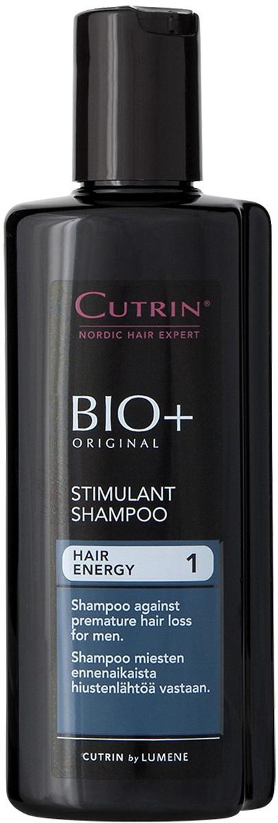 Cutrin Стимулирующий шампунь для мужчин BIO+ Stimulant Shampoo, 200 мл14227Препятствует преждевременному выпадению волос у мужчин и стимулирует рост новых.Новый активный ингредиент ProcapilTM защищает волосяную луковицу, стимулирует метаболизм клеток, улучшает питание волосяных фолликулов.Ксилитол, лактитол и пальмовый экстракт нормализуют работу сальных желез и улучшают состояние кожи головы.Для получения наилучших результатов, необходимо использовать в комплексе со Стимулирующим лосьоном для мужчин.