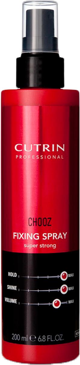 Cutrin Лак-спрей экстра-сильной фиксации Fixing Spray Super Strong, 200 млspray12766Неаэрозольный лак-спрей обеспечивает экстра-сильную фиксацию и придает волосам дополнительный блеск. Незаменимое средство для создания причесок из длинных волос, позволяет фиксировать отдельные элементы прически. Пантенол оказывает на волосы ухаживающий эффект.