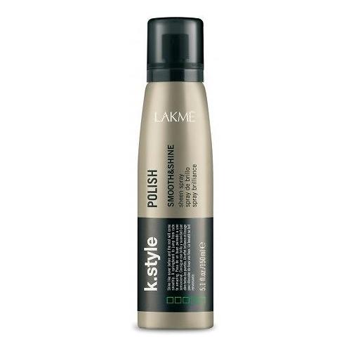 Lakme Спрей-сияние для волос Polish Sheen Spray, 150 мл46212Спрей - сияние для волос Lakme K Style Polish Стойкий сияющий блеск. Гладкие и шелковистые волосы. Не утяжеляет волосы. Содержит УФ фильтры. Обладает термозащитными свойствами. Древесно - травяной аромат. Степень фиксации - 0
