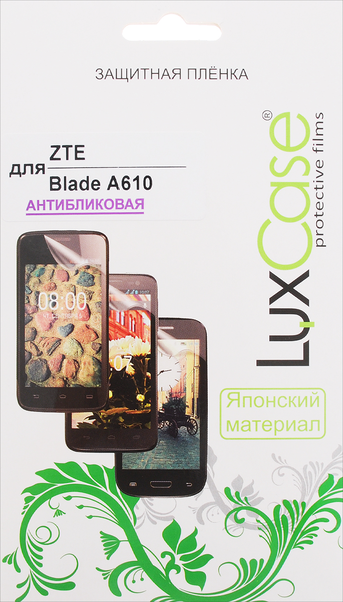 LuxCase защитная пленка для ZTE Blade A610, антибликовая 10 x 12mm tube straight connector one touch pneumatic push in fitting free shipping