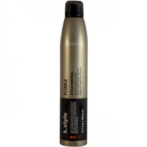 Lakme Спрей для волос эластичной фиксации Pliable Natural Flexible Spray, 300 мл46333Спрей для волос эластичной фиксации Lakme K Style PliableЕстественная фиксация. Возможность легко изменить форму прически. Не оставляет налета на волосах. Легко счесывается. Обладает антистатическими свойствами.Устойчив к влажности.Древесно - травяной аромат. Степень фиксации - 2