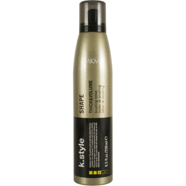 Lakme Лосьон для укладки волос, придающий объем Shape Brushing Lotion, 250 мл46413Лосьон для укладки волос Lakme K Style Shape Обеспечивает максимальный объём и эластичную фиксацию.Идеально подходит для тонких волос.Устойчив к влажности.Содержит УФ фильтры.Древесно - травяной аромат.Степень фиксации - 3