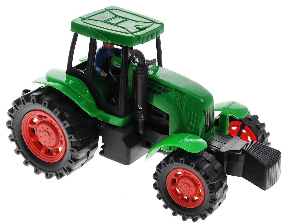 Junfa Toys Трактор инерционный цвет зеленый junfa toys трактор инерционный ranch world цвет красный