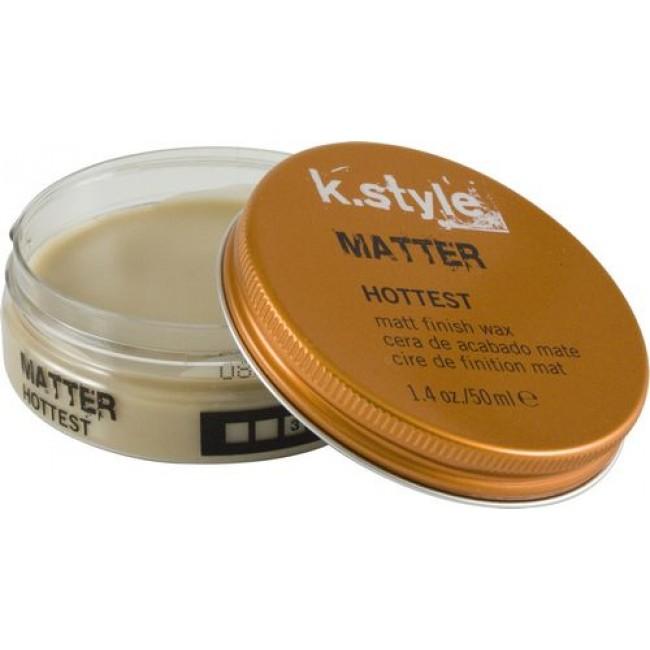 Lakme Воск для укладки волос с матовым эффектом Matter Matt Finish Wax, 50 мл46521Воск для укладки волос с матовым эффектом Lakme K Style MatterПодчеркивает текстуру стрижки. Придает волосам матовый эффект. Обеспечивает эластичную фиксацию. Содержит УФ - фильтр. Древесный аромат на основе кедра и сандалового дерева. Степень фиксации - 3