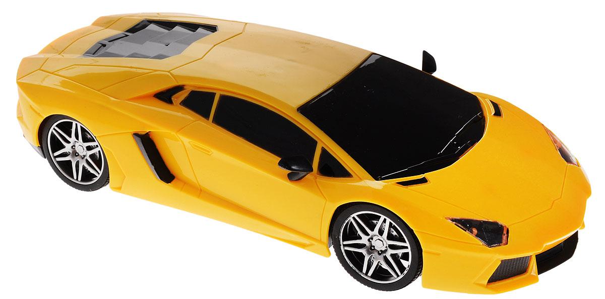 Junfa Toys Машинка инерционная Racing Bicycle цвет желтый