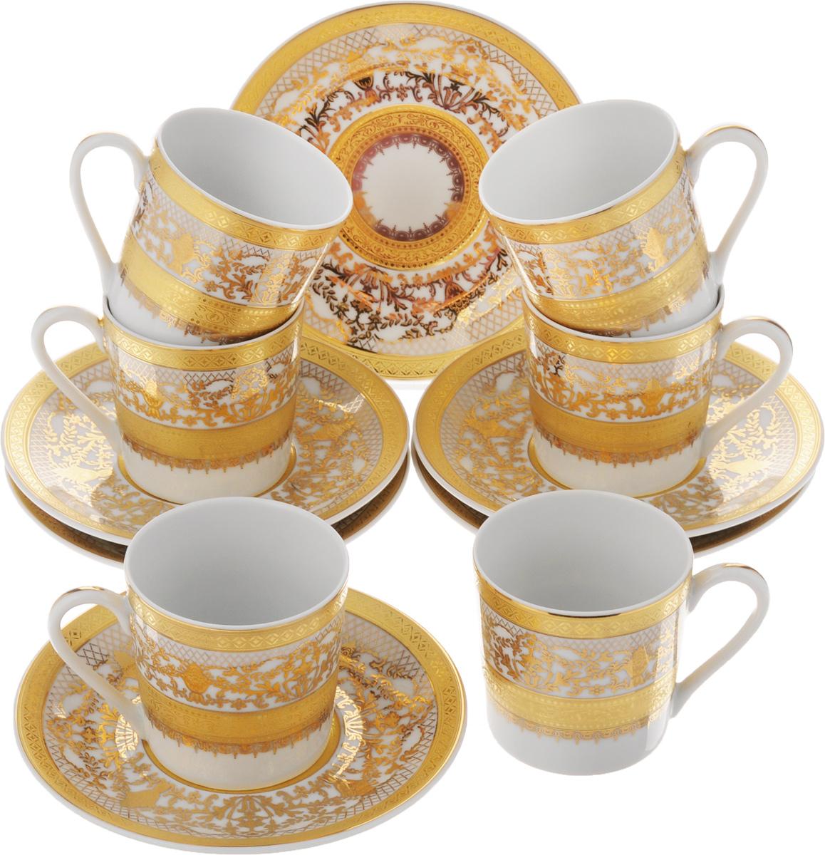 Набор кофейный Yves De La Rosiere Mimosa, 12 предметов539012 1645Кофейный набор Yves De La Rosiere Mimosa состоит из 6 чашек и 6 блюдец. Изделия выполнены из высококачественного фарфора. Такой набор станет прекрасным украшением стола и порадует гостей изысканным дизайном и утонченностью. Кофейный набор Yves De La Rosiere Mimosa идеально впишется в любой интерьер, а также станет идеальным подарком для ваших родных и близких. Объем чашки: 130 мл. Диаметр чашки (по верхнему краю): 6 см. Высота чашки: 6 см. Диаметр блюдца (по верхнему краю): 13 см. Высота блюдца: 2 см.